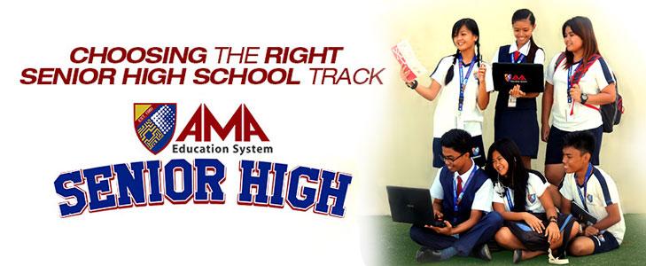 Choosing the right track -AMA Senior High